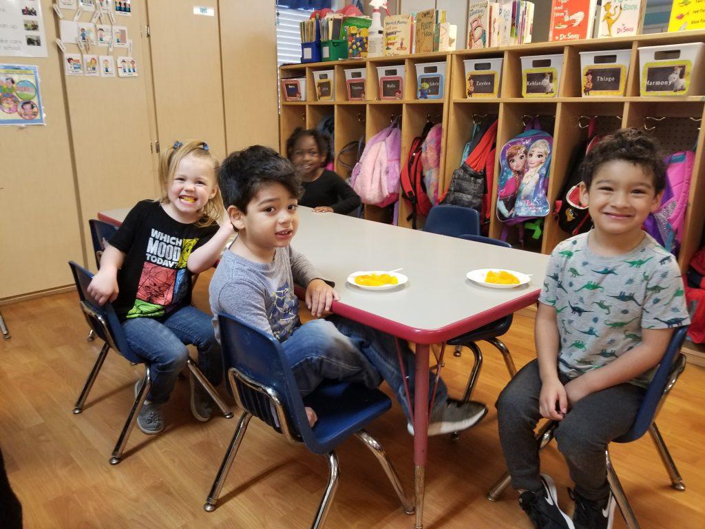 Head Start children's snack time